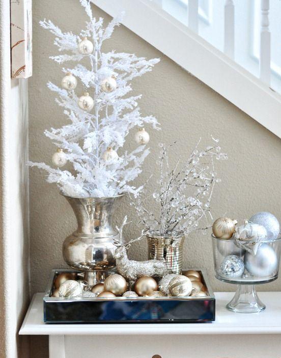 χρυσάφι Και Λευκές Χριστουγεννιάτικες Ιδέες5