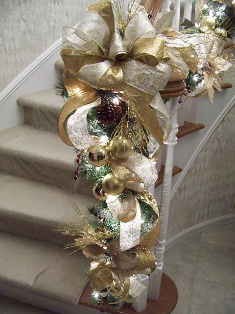 χρυσάφι Και Λευκές Χριστουγεννιάτικες Ιδέες8
