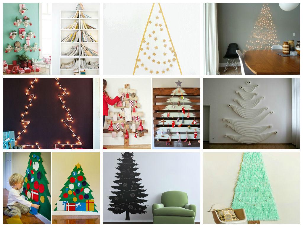 Πρωτότυπες ιδέες με Χριστουγεννιάτικα Δέντρα στον τοίχο