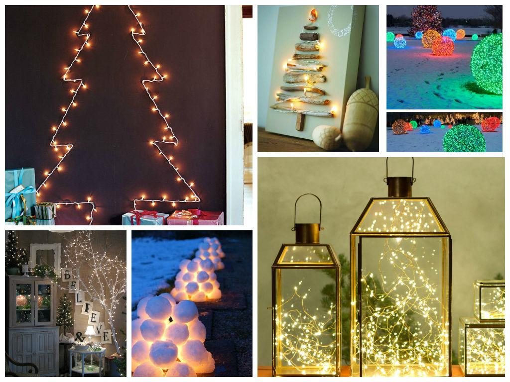 Χριστουγεννιάτικη Διακόσμηση με φωτάκια