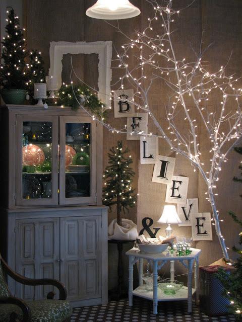 Χριστουγεννιάτικη Διακόσμηση με φωτάκια18