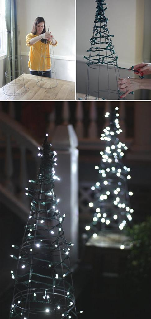 Χριστουγεννιάτικη Διακόσμηση με φωτάκια8