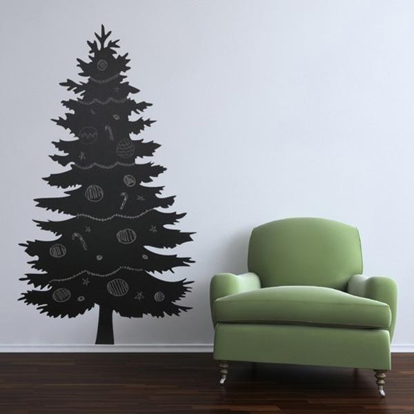 ιδέες με Χριστουγεννιάτικα Δέντρα στον τοίχο10