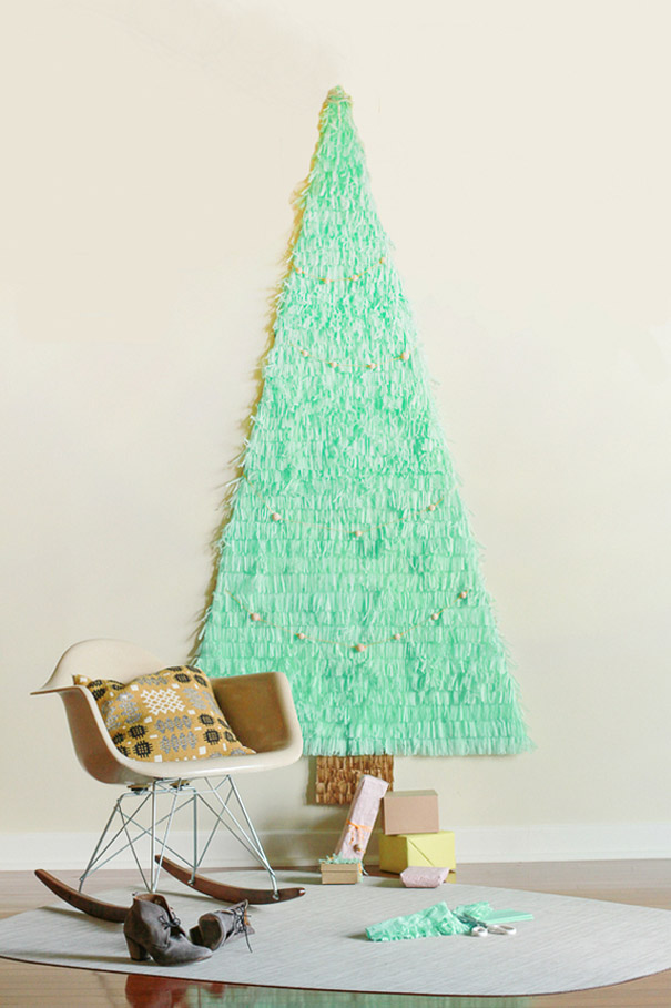 ιδέες με Χριστουγεννιάτικα Δέντρα στον τοίχο11