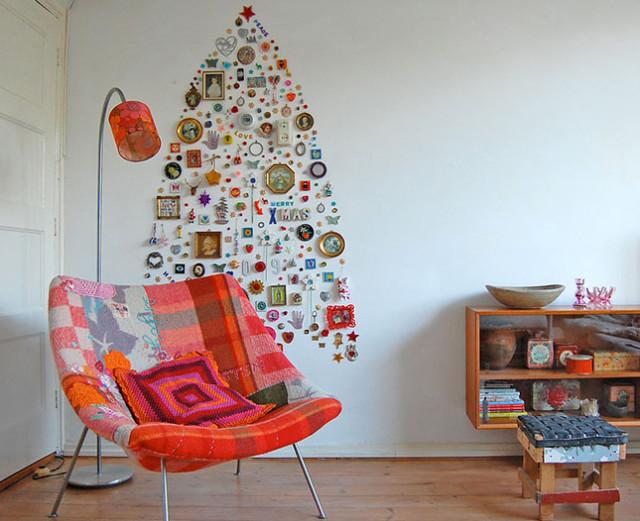 ιδέες με Χριστουγεννιάτικα Δέντρα στον τοίχο14