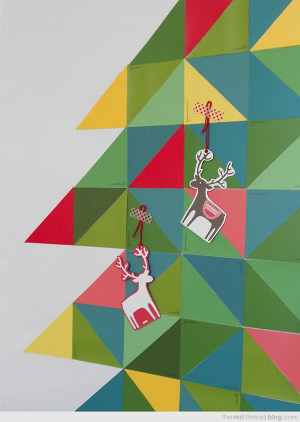 ιδέες με Χριστουγεννιάτικα Δέντρα στον τοίχο17