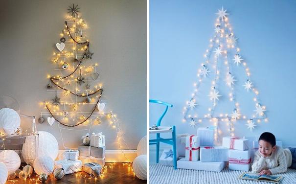 ιδέες με Χριστουγεννιάτικα Δέντρα στον τοίχο2