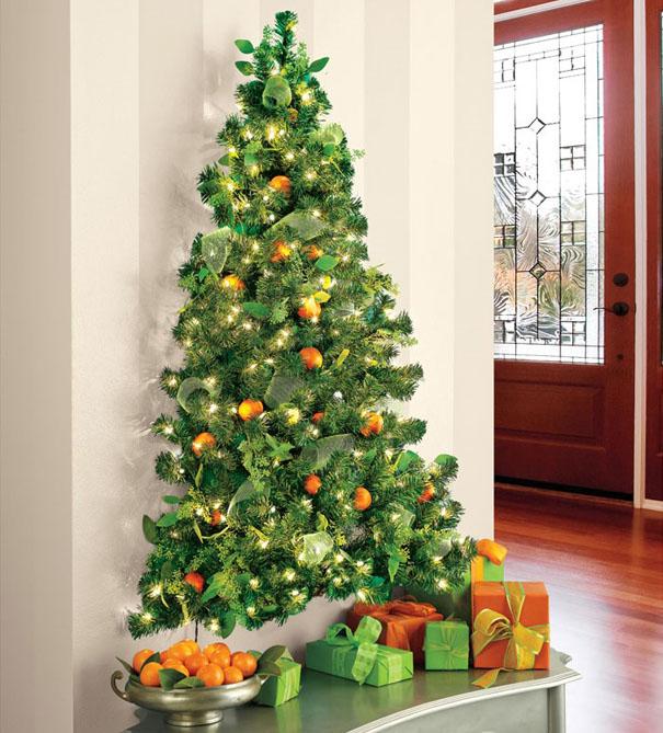 ιδέες με Χριστουγεννιάτικα Δέντρα στον τοίχο20