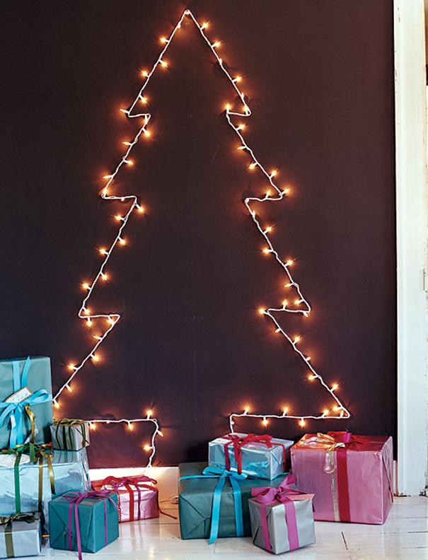 ιδέες με Χριστουγεννιάτικα Δέντρα στον τοίχο3