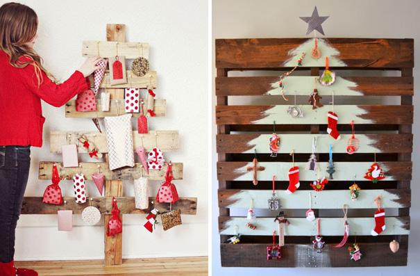 ιδέες με Χριστουγεννιάτικα Δέντρα στον τοίχο8