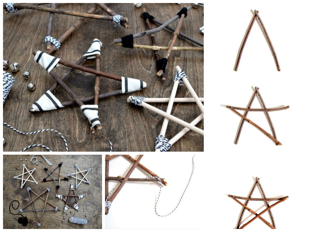 Diy Ρουστίκ και μοντέρνα Χριστουγεννιάτικα αστέρια από Κλαδιά