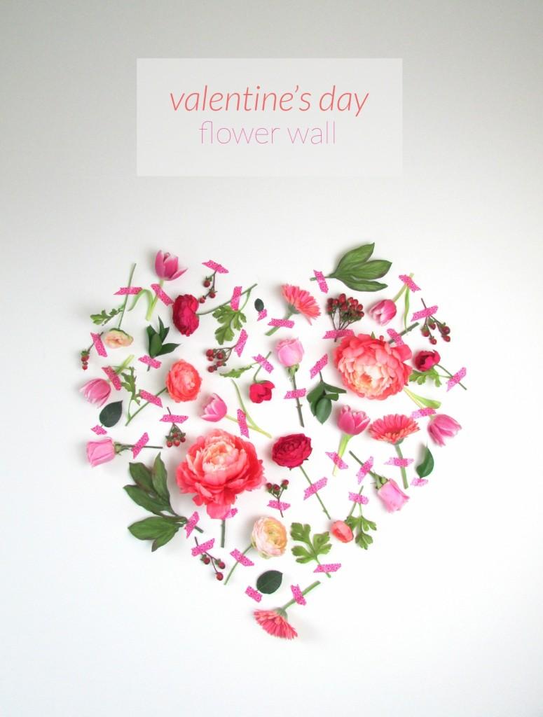 Τέχνη τοίχου με λουλούδια για την Ημέρα του Αγίου Βαλεντίνου1