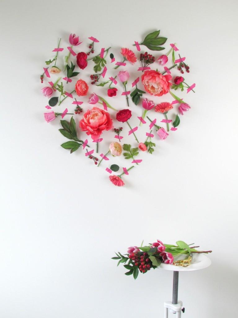 Τέχνη τοίχου με λουλούδια για την Ημέρα του Αγίου Βαλεντίνου4