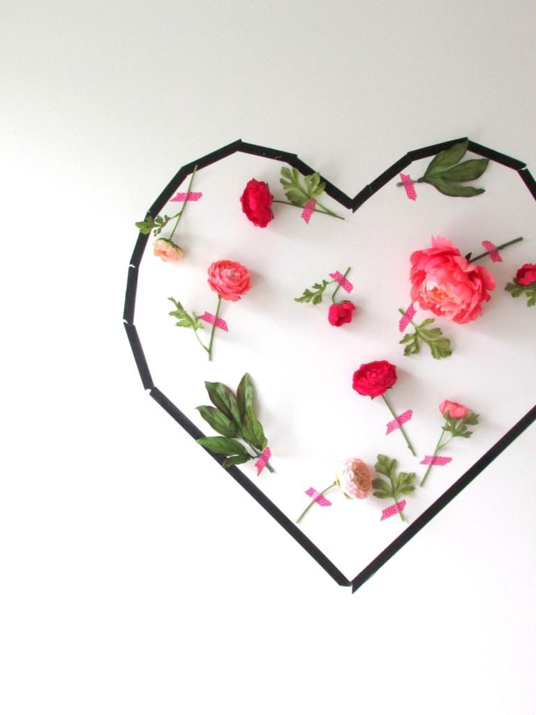 Τέχνη τοίχου με λουλούδια για την Ημέρα του Αγίου Βαλεντίνου7