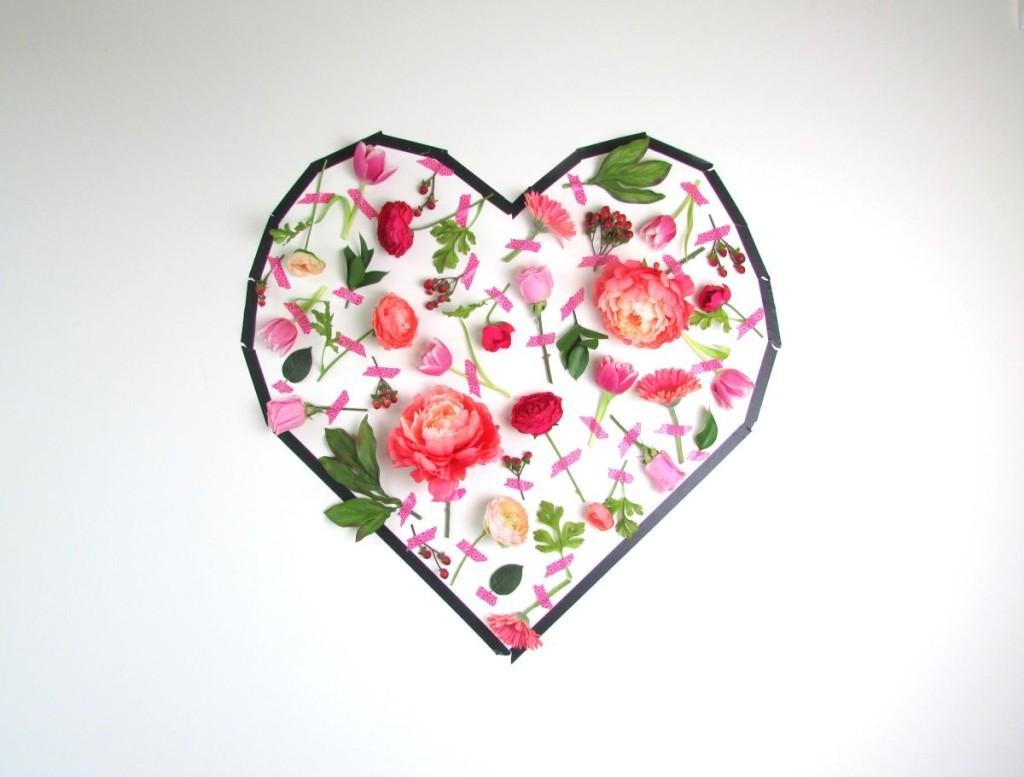 Τέχνη τοίχου με λουλούδια για την Ημέρα του Αγίου Βαλεντίνου8