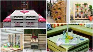24 πρωτότυποι τρόποι για να μετατρέψετε Παλιές παλέτες σε όμορφα Έπιπλα εξωτερικού χώρου