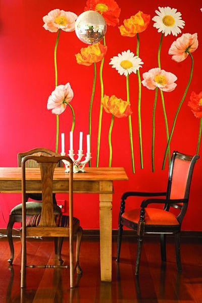 Ιδέες Διακόσμησης για την άνοιξη με λουλούδια στους τοίχους1