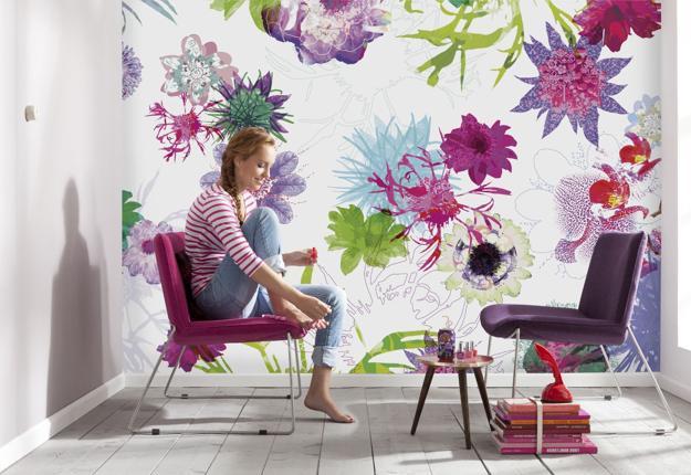 Ιδέες Διακόσμησης για την άνοιξη με λουλούδια στους τοίχους2