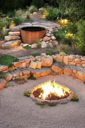 Ιδέες Διακόσμησης κήπου με βράχια και πέτρες7