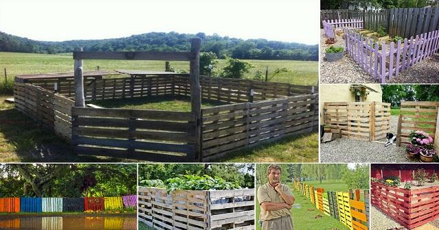 Ιδέες με Φράχτες από ξύλινες παλέτες