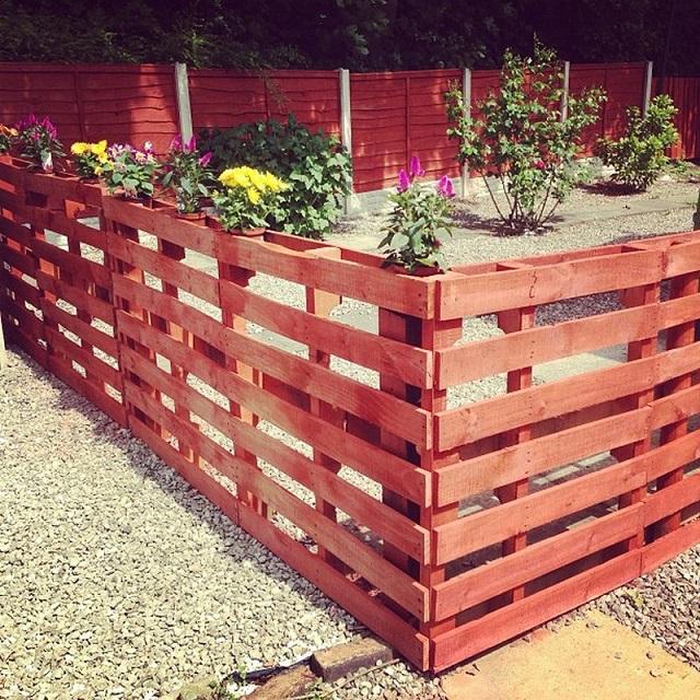 Ιδέες με Φράχτες από ξύλινες παλέτες3