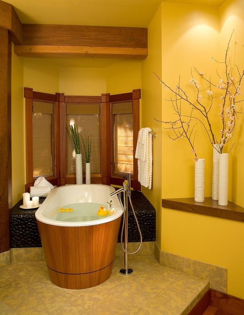 Μπάνια με τη ζεστή δελεαστική ομορφιά του Κίτρινου4