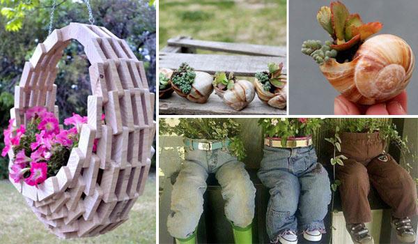 DIY Γλάστρες Κήπου
