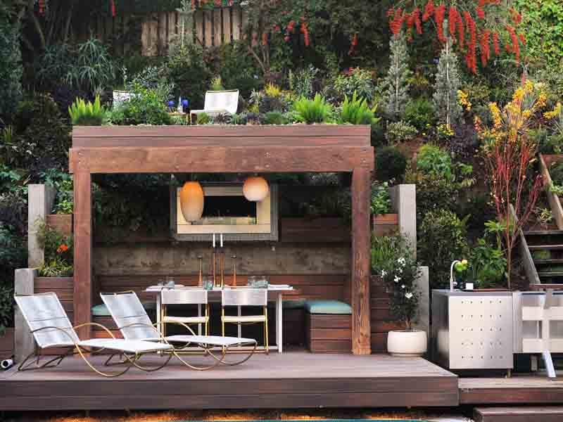 Ιδέες σχεδιασμού ξύλινης πέργκολας17