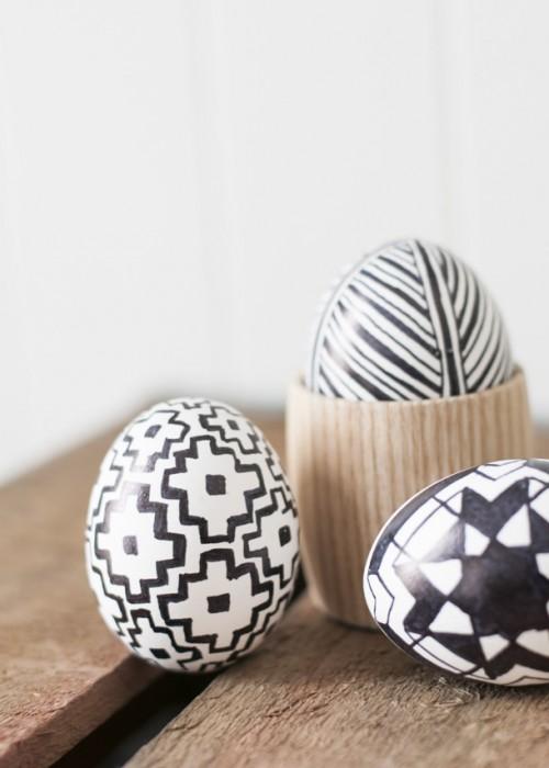 DIY ιδέες Πασχαλινής Διακόσμησης σε μαύρο και λευκό1