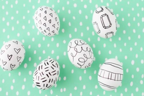 DIY ιδέες Πασχαλινής Διακόσμησης σε μαύρο και λευκό9