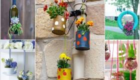 DIY ιδέες για κρεμαστές γλάστρες