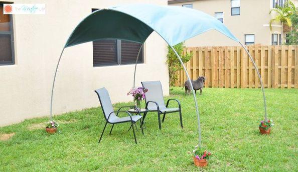 Απίθανο DIY σκίαστρο για την αυλή και τον κήπο σας1