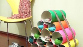 Diy παπουτσοθήκη από σωλήνες PVC