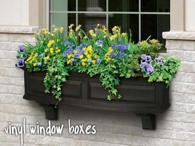 Ιδέες με ζαρτινιέρες λουλουδιών για τα παράθυρα σας18