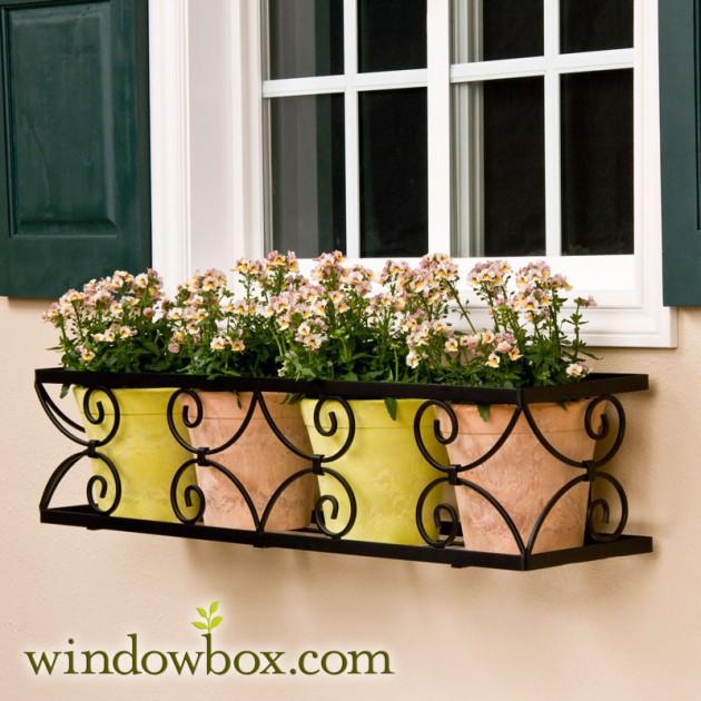 Ιδέες με ζαρτινιέρες λουλουδιών για τα παράθυρα σας4