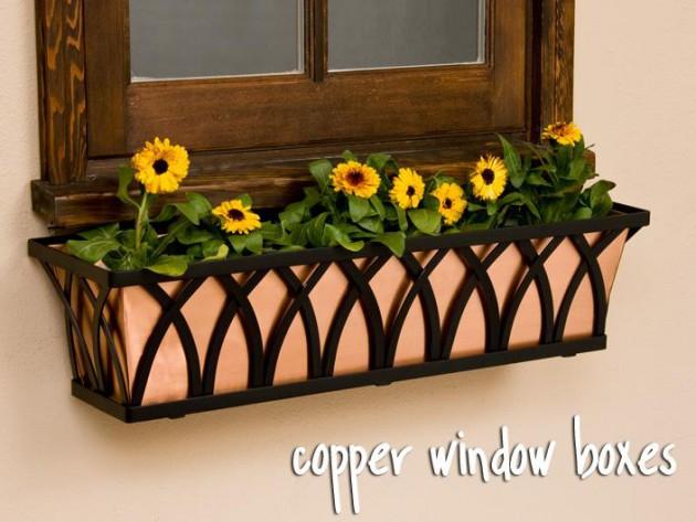 Ιδέες με ζαρτινιέρες λουλουδιών για τα παράθυρα σας5