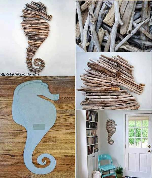 DIY ιδέες διακόσμησης με θαλασσόξυλα26