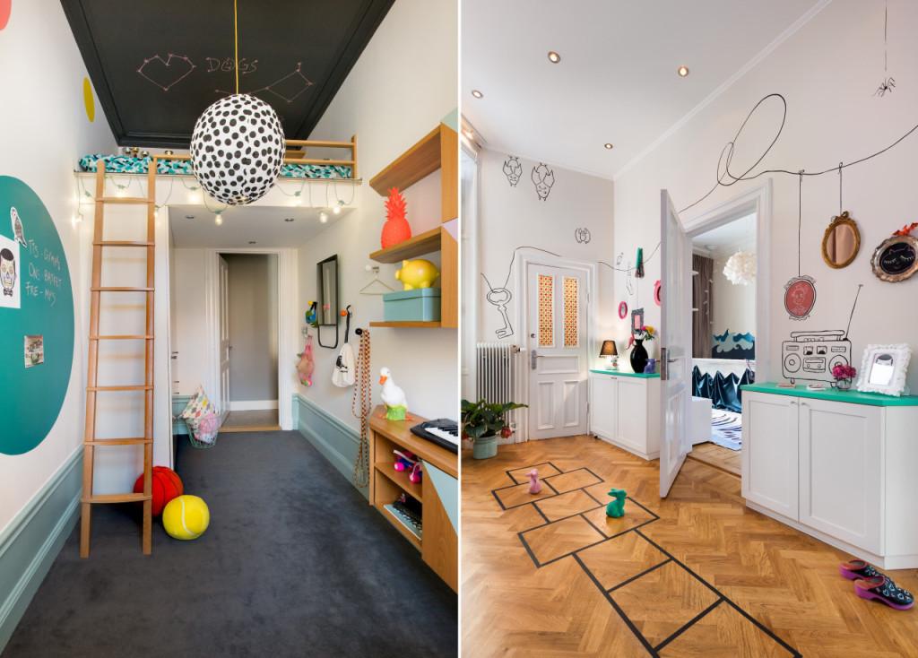 Έντονα χρώματα σε ένα καταπληκτικό σκανδιναβικό διαμέρισμα18