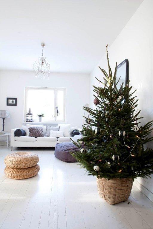 Μινιμαλιστικές ιδέες Χριστουγεννιάτικου δέντρου10