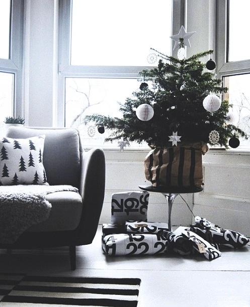Μινιμαλιστικές ιδέες Χριστουγεννιάτικου δέντρου3