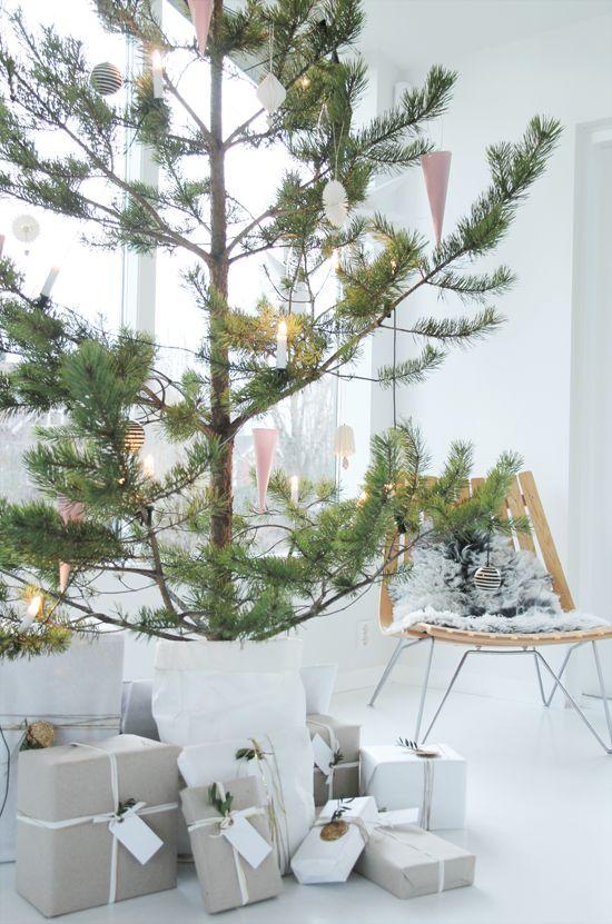 Μινιμαλιστικές ιδέες Χριστουγεννιάτικου δέντρου5