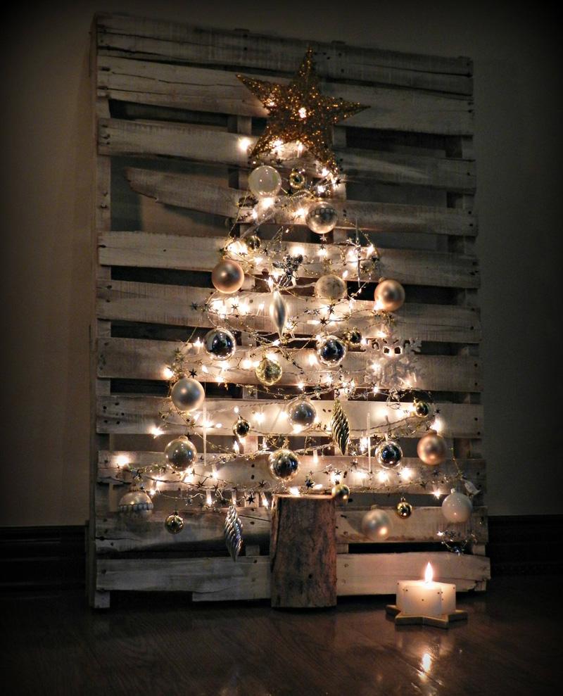 διακοσμήσεις Χριστουγέννων από παλέτες10