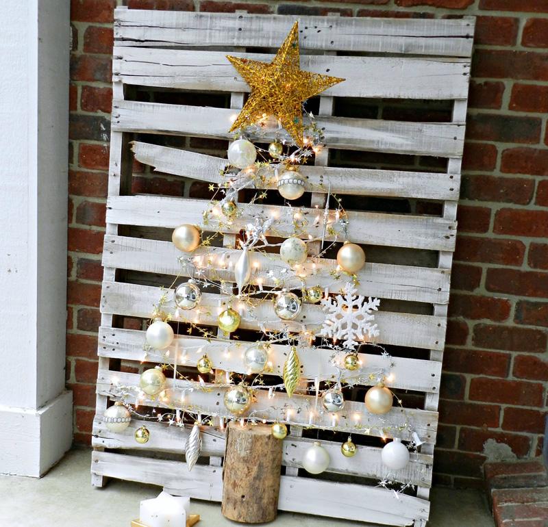 διακοσμήσεις Χριστουγέννων από παλέτες12