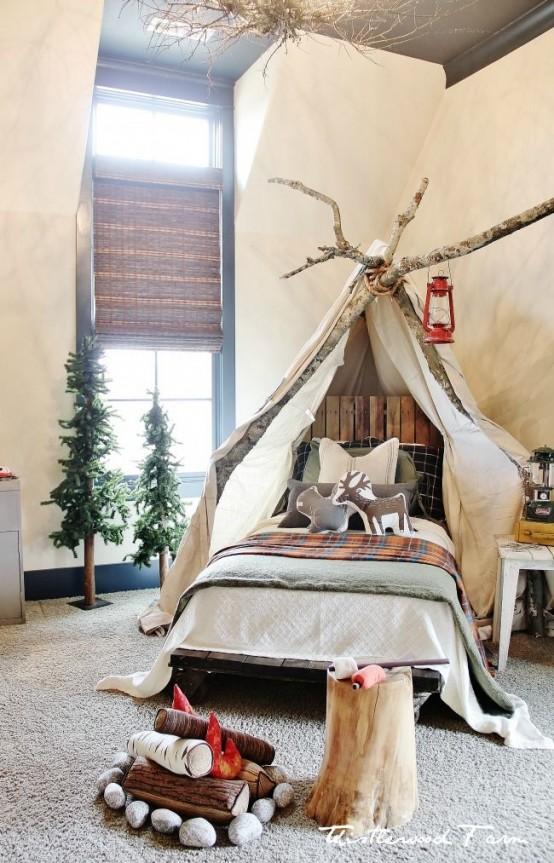 χριστουγεννιάτικες ιδέες διακόσμησης για τα δωμάτια των παιδιών12