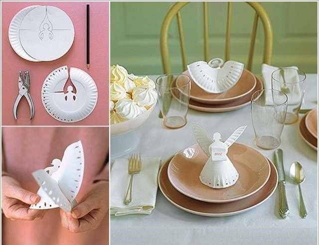 DIY Διακοσμητικοί Άγγελοι για το Χριστουγεννιάτικο τραπέζι από χάρτινα πιάτα1