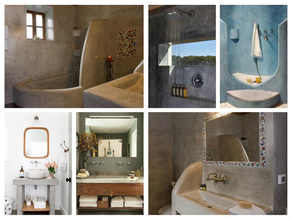 Μπετόν στο μπάνιο ιδέες
