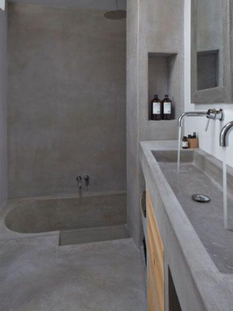 Μπετόν στο μπάνιο ιδέες30