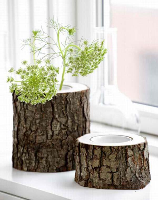 βάζα από κούτσουρο δέντρου14