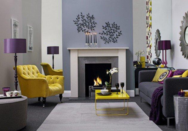 ιδέες διακόσμησης με κίτρινο