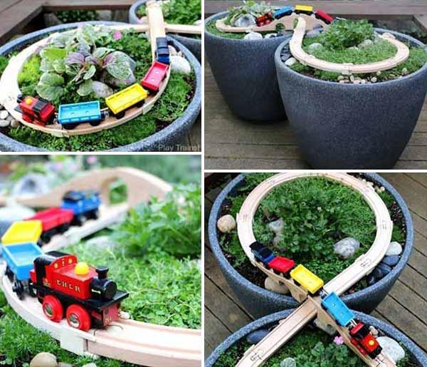 DIY Πίστα αγώνων αυτοκινήτων για τον κήπο6